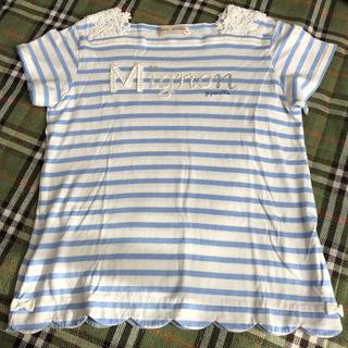 pom ponette - ポンポネット ボーダーTシャツ 150