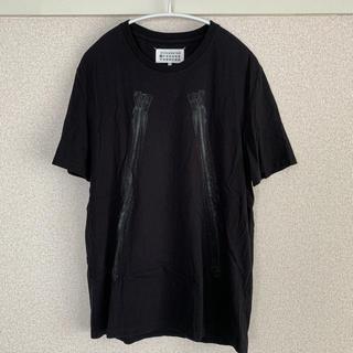 Maison Martin Margiela - Maison Martin Margiela ハの字プリント Tシャツ ブラック
