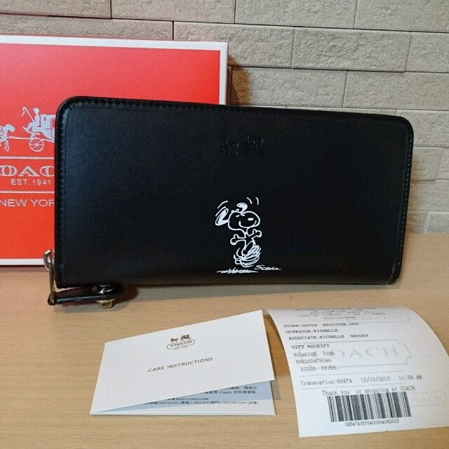 reputable site 8d3a7 0cda0 スヌーピー♥coachコラボ財布新品 | フリマアプリ ラクマ