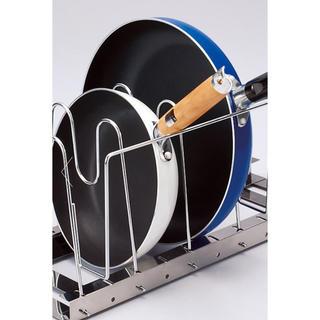 ディノス(dinos)の伸縮式鍋•フライパンラック ディノス キッチン収納(収納/キッチン雑貨)