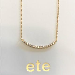 ete - 美品 エテ  K18 YG パーティクルネックレス