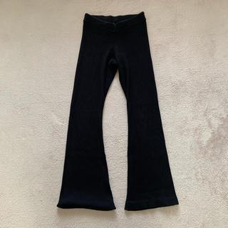 DEUXIEME CLASSE - リブニットパンツ 黒