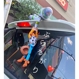 Disney - トイストーリー♡車、ぶらさげ人形❗️固定留め具つき!ウッディ&バズ♡ディズニー