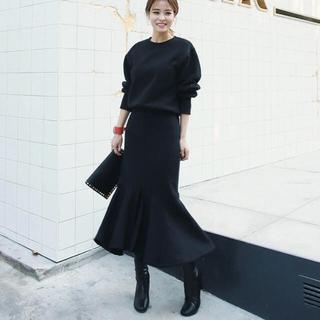 dholic - 春 新作❤スウェット セットアップ マーメイド ブラック 上下  韓国
