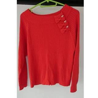 クチュールブローチ(Couture Brooch)のクチュールブローチ リボン ニット 38(ニット/セーター)