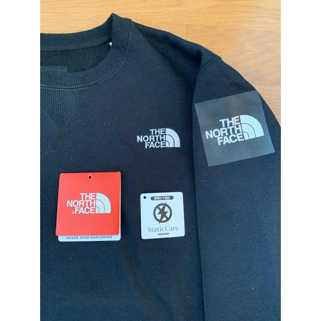 THE NORTH FACE(ザノースフェイス)のTHE NORTH FACE スクエア スウェットトレーナー Mサイズ ブラック メンズのトップス(スウェット)の商品写真