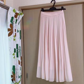 UNIQLO - 春色プリーツ ロングスカート