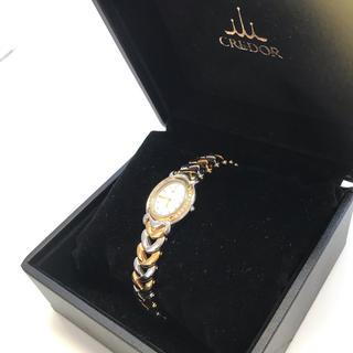 セイコー(SEIKO)のクレドール ベゼルダイヤ K18/ステンレス 腕周り17㎝(腕時計)