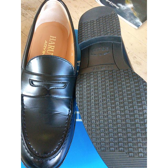 HARUTA(ハルタ)のHARUTA 合皮ビジネスローファー黒 25.0EEE 日本製✨美品 メンズの靴/シューズ(ドレス/ビジネス)の商品写真