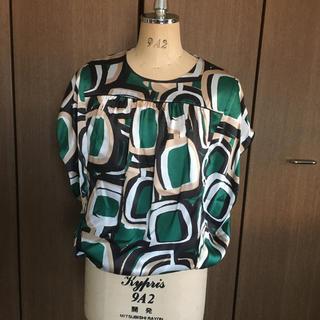 ディノス(dinos)の新品タグ付✴︎DAMA上質シルク100%ブラウス(シャツ/ブラウス(半袖/袖なし))