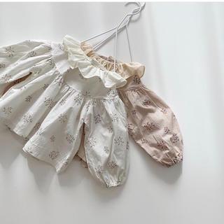 Caramel baby&child  - monbebe lolo blouse ホワイト Sサイズ