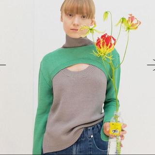 アメリヴィンテージ(Ameri VINTAGE)のsoduk double hole knit sweater スドーク(ニット/セーター)