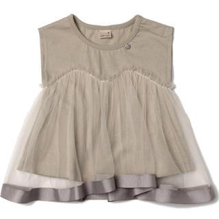 プティマイン(petit main)の【新品未使用】プティマイン チュールTシャツ(Tシャツ/カットソー)