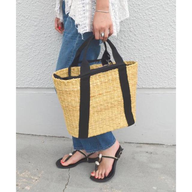 Plage(プラージュ)のMUUN ムーニュ カゴバッグ 希少グレー レディースのバッグ(かごバッグ/ストローバッグ)の商品写真