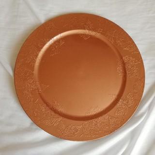 フラワーアレンジメント用花器 ブロンド 平皿 花柄(花瓶)