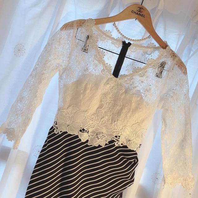 Andy(アンディ)のsobre 袖ありキャバドレス レディースのフォーマル/ドレス(ミニドレス)の商品写真