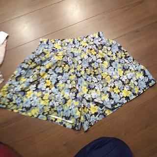 小花柄 キュロットスカート