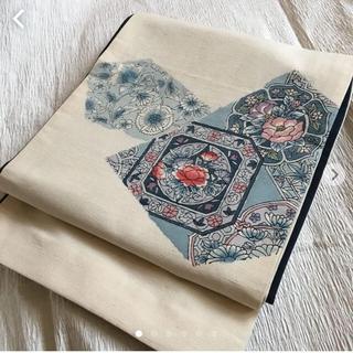 京袋帯 正絹 リバーシブル