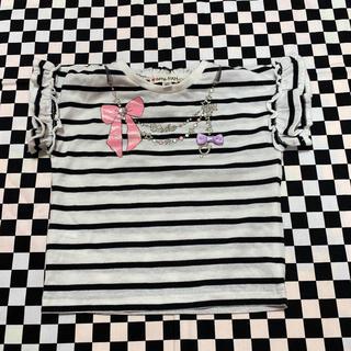 エニィファム(anyFAM)の袖フリルボーダーTシャツ(Tシャツ/カットソー)