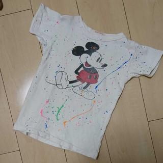 デニムダンガリー(DENIM DUNGAREE)のデニムダンガリー☆ペイント ミッキーTシャツ(Tシャツ/カットソー)