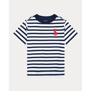 ポロラルフローレン(POLO RALPH LAUREN)の4月7日まで出品! ラルフローレン ストライプtシャツ ネイビー(Tシャツ/カットソー)