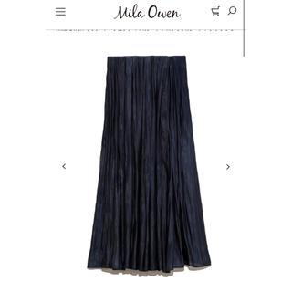 Mila Owen - ミラオーウェン タックフレアサテンマキシスカート