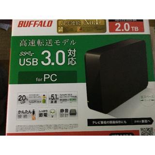 BUFFALO ターボPC EX2 USB3.0用 外付けHDD 2TB ブラッ