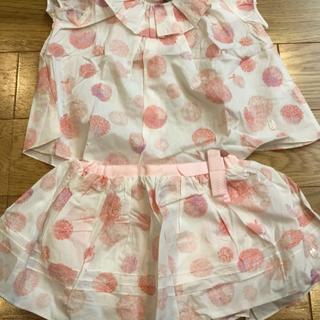 ベビーディオール(baby Dior)のbaby Dior ブラウス+スカートセット(シャツ/カットソー)