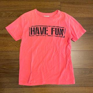 ザラキッズ(ZARA KIDS)のザラ ロゴTシャツ オレンジ系 150(Tシャツ/カットソー)
