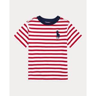 ポロラルフローレン(POLO RALPH LAUREN)の4月7日まで出品! ラルフローレン ストライプtシャツ レッド(Tシャツ/カットソー)