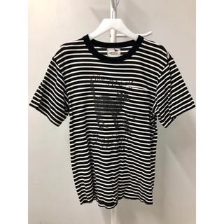 ワコマリア(WACKO MARIA)の美品 GANGSTERVILLE コットン ニット ボーダー ポケット Tシャツ(Tシャツ/カットソー(半袖/袖なし))