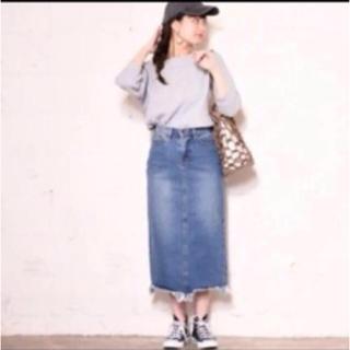 coca ダメージデニムスカート(ひざ丈スカート)