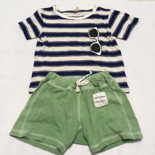 プティマイン(petit main)のTシャツ ショートパンツ 男の子 プティマイン 90 80 85(Tシャツ/カットソー)