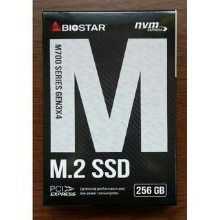 新品未開封 BIOSTAR M.2 NVMe SSD M700-256GB