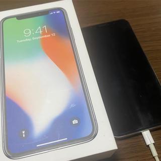 Apple - iPhonex 256GB silver ※