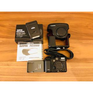 キヤノン(Canon)の【Canon】PowerShot G10 純正カバー、外付けフラッシュセット(コンパクトデジタルカメラ)