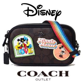 COACH - 新品コーチ×ディズニー ミニーマウス ポシェット クロスボディショルダーバッグ
