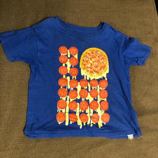 キッズTシャツ ピザ柄 サイズxs 100センチ(Tシャツ/カットソー)