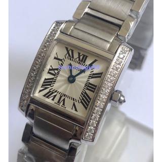Cartier - タンクフランセーズ SM ベゼルダイヤ レディース