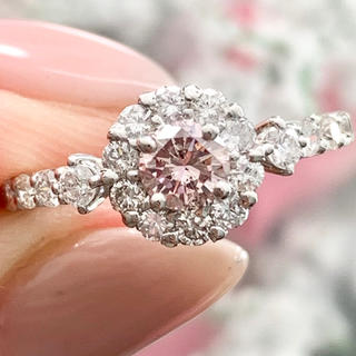 ★ナチュラルピンクダイヤ ★ ファンシー✨ ダイヤモンド プラチナ リング(リング(指輪))