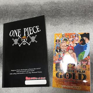 ONE PIECE FILM GOLD episode0 とノートのセット(その他)