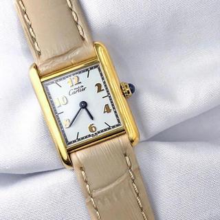 Cartier - 【仕上済】カルティエ タンク 飛びアラビア SM レディース 腕時計