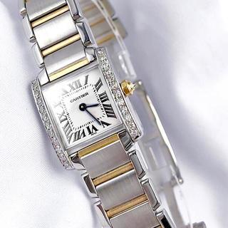 Cartier - 【仕上済】カルティエ フランセーズ コンビ ダイヤ レディース 腕時計