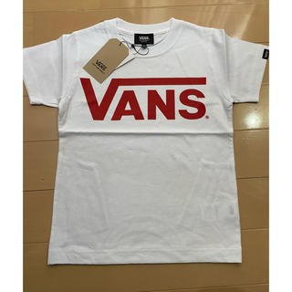 VANS - VANS  キッズ 半袖 Tシャツ ロゴプリント ホワイト/レッド 130cm