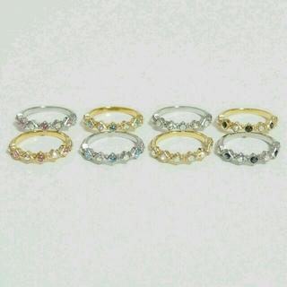 スワロフスキーピンキーリング(リング(指輪))