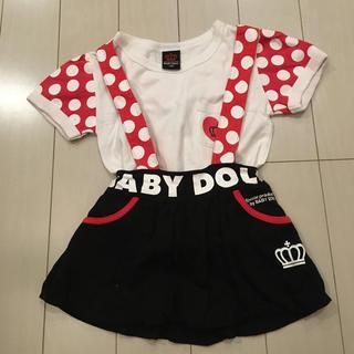 BABYDOLL - ベビードール ジャンプスカート Tシャツ ミニーちゃん セット 100