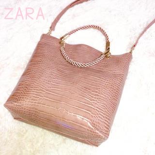 ZARA - ショルダーバッグ ハンドバッグ トートバッグ ZARA レザーバッグ