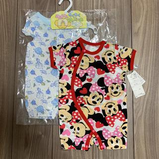 Disney - 新生児ロンパース ミニー シンデレラ 2点セット 50-60 出産準備ディズニー