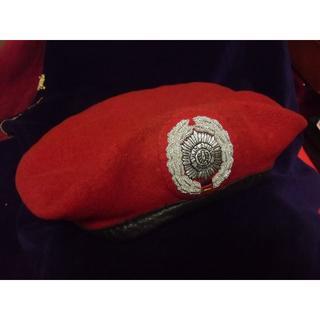 BWドイツ軍/連邦軍*Feldjger/野戦憲兵*将校ベレー帽*61cm(実物)(戦闘服)