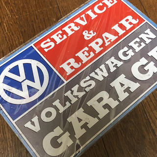 Volkswagen - ワーゲンガレージ ブリキ看板